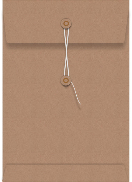 Kraft String Seal C4 Envelope