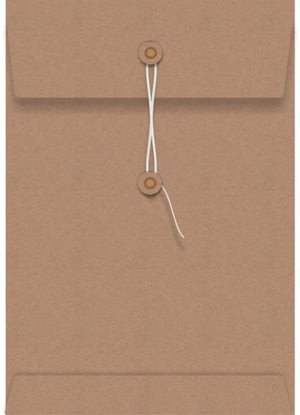 Kraft String Seal 85 x 130mm Envelope
