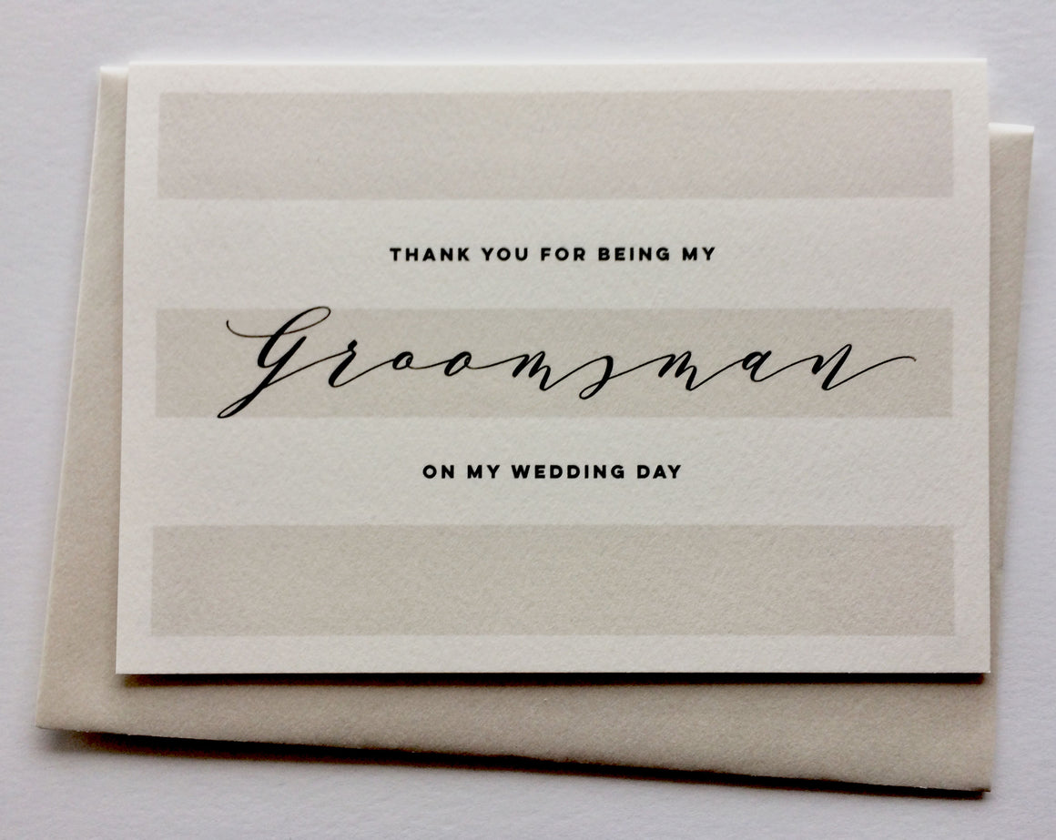 Than you to the groomsman card