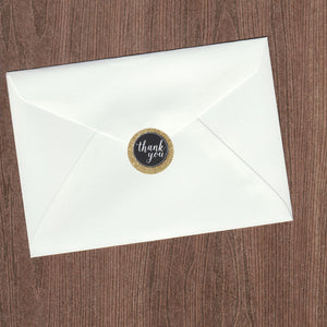 Thank You Gold Glitter Envelope Seal (pack of 30)