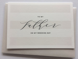 to father on wedding day gift card