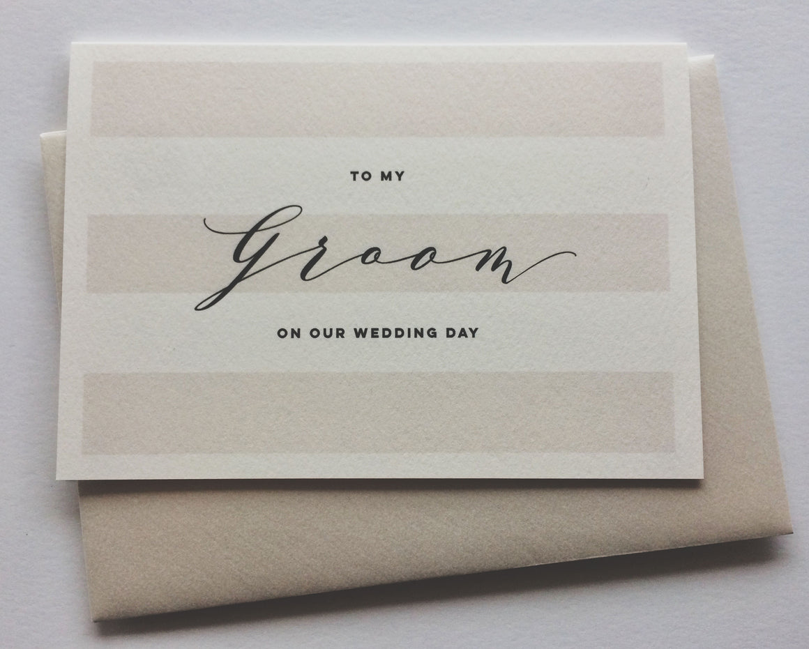to my groom wedding gift card