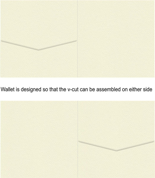 Via Felt Cream Square Invitation Wallet