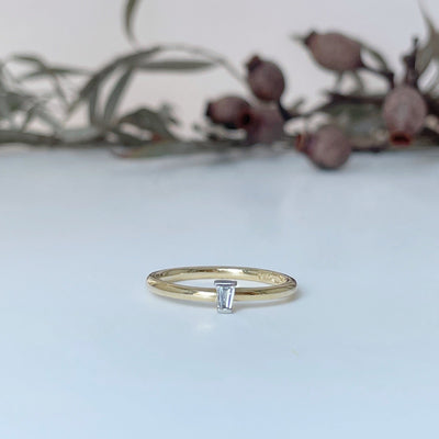 Small Tapered Baguette Ring Ring Jason Ree Design
