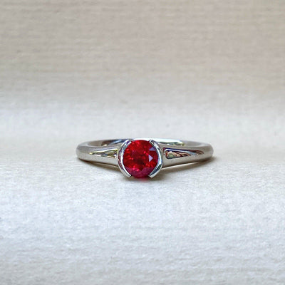 """Cherry Bomb"" 0.71ct Ruby Platinum Ring Ring JasonRee"