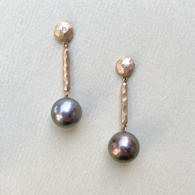 """Helmi"" Bronze Pearl Dangle Earring Earrings JasonRee"