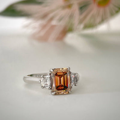"""Gaia"" Australian Argyle Cognac Diamond Engagement Ring Ring JasonRee"