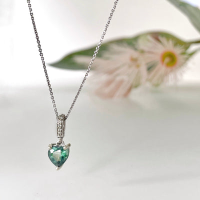 ''Hearts'' 1.05ct Australian Green Heart Pendant Pendant Jason Ree Design