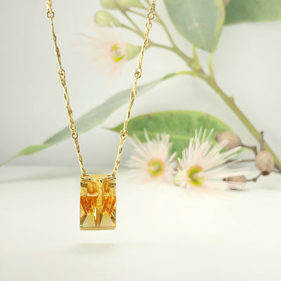 ''Sun Cage'' Lapponia Gold & Citrine Necklace Pendant Jason Ree Design