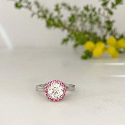 """Ballerina"" 1.21ct Diamond and Pink Sapphire Ring Ring Jason Ree Design"