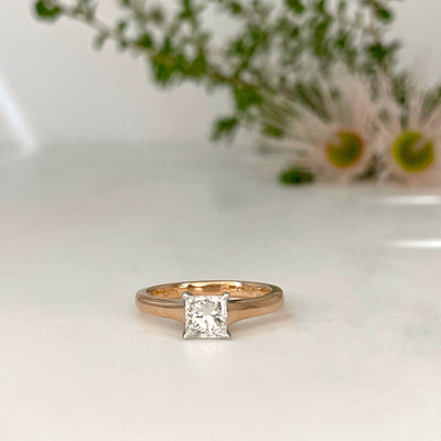 Princess 0.7ct Diamond Solitaire Ring Ring Jason Ree Design