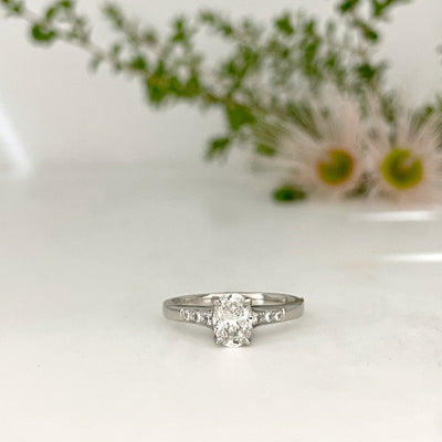 Oval 0.84ct Diamond Ring Ring Jason Ree Design