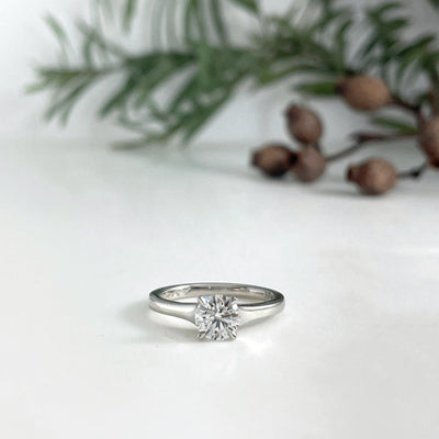 Round 0.80ct Diamond Solitaire Ring Ring Jason Ree Design