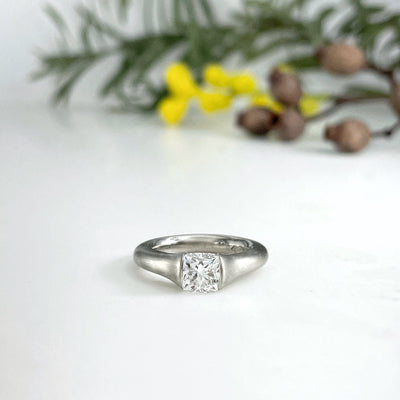 """Lulu"" Platinum Diamond Tension Engagement Ring Ring JasonRee"