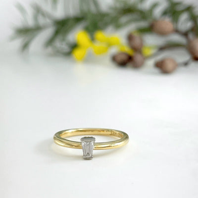 Large Tapered Baguette Ring Ring Jason Ree Design