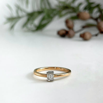 Carre Diamond Ring Ring Jason Ree Design