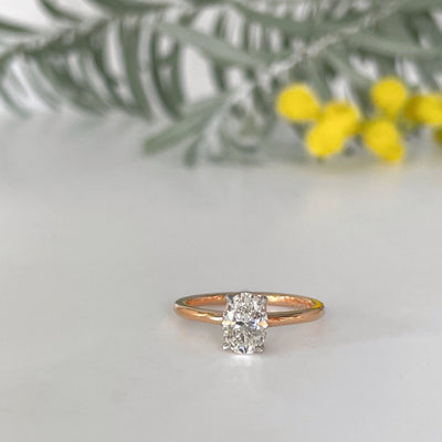 """HighWire"" 1.03ct Diamond Oval Solitaire Enagagment Ring Ring Jason Ree Design"