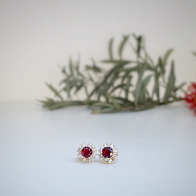 """Catherine"" Ruby Studs Earrings JasonRee"