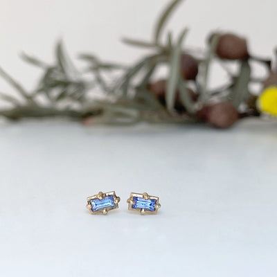 """Mosaic"" Indigo Sapphire Stud Earrings Earrings JasonRee"