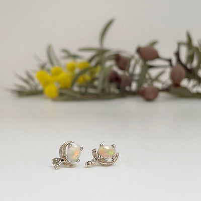 """Gumleaf"" Opal 9ct Studs Earrings JasonRee"