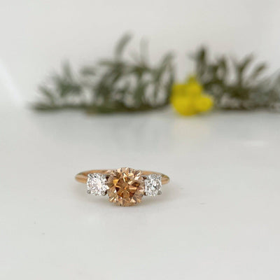 HighWire Argyle Diamond Trilogy Rose Gold ring Ring Jason Ree Design
