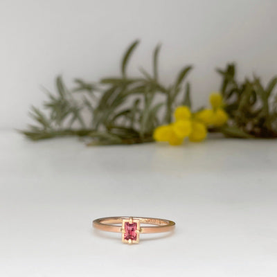 """Mosaic"" Orange Sapphire Stacking Ring 