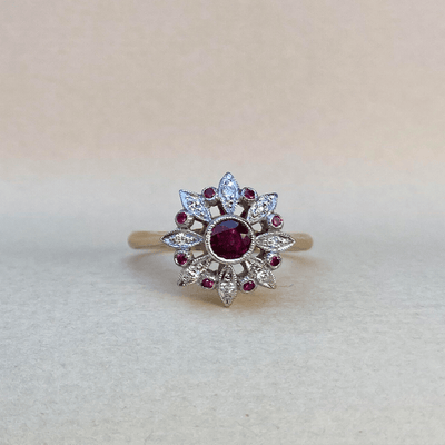 """Fireworks"" 0.40ct Ruby Ring Ring JasonRee"