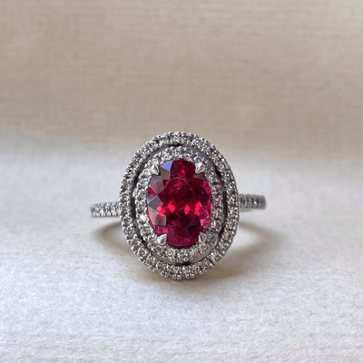 """Maraschino"" 2.46ct Tourmaline & Diamond Ring Ring JasonRee"