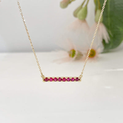 ''Antoinette'' French Set Natural Ruby Necklace Pendant Jason Ree Design