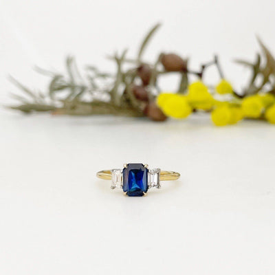 'Iris' Australian Sapphire & Diamond ring Ring Jason Ree Design