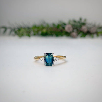 'MiMi' 1.27ct emerald-cut Australian Parti Sapphire Ring Ring Jason Ree Design