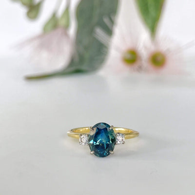 """Riverina"" 2.24ct Sapphire Diamond Trilogy Ring Ring Jason Ree Design"