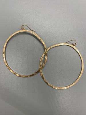 "1"" Hoop Earrings Gold"