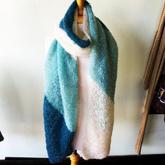 Color Block Bias Wrap in Be Sweet Medium Mohair