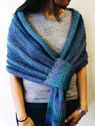 Yarning for Ewe - Windy Hill Wrap by Bharati Shah -  - Yarning for Ewe - 1