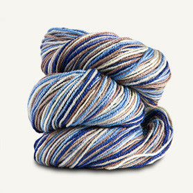 Spud and Chloe - Stripey Fine - 7863 Blueberry Cheesecake - Yarning for Ewe - 5
