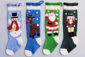 Ann Norling #1013 Christmas Stocking (Snowman, Reindeer, Santa, Nutcracker)