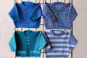 Ann Norling #29 Kid's Basic: Pullover, Cardigan, and Vest