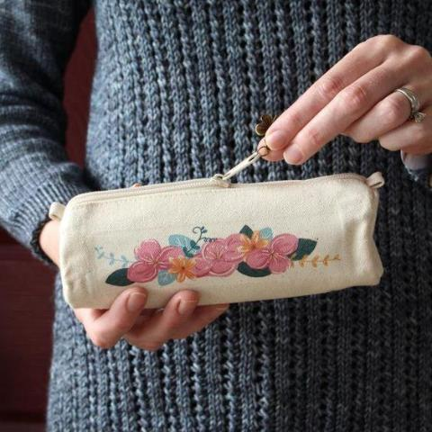 Floral Notions Pouch