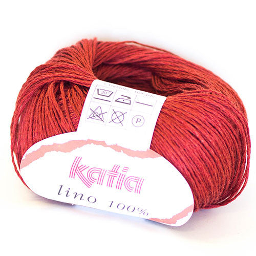 Katia - Lino 100% - 20 Cherry - Yarning for Ewe - 4