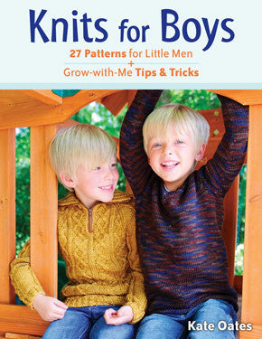 NNK Press - Knits for Boys by Kate Oates -  - Yarning for Ewe