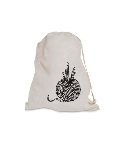 Muslin Cotton Knitting Bag