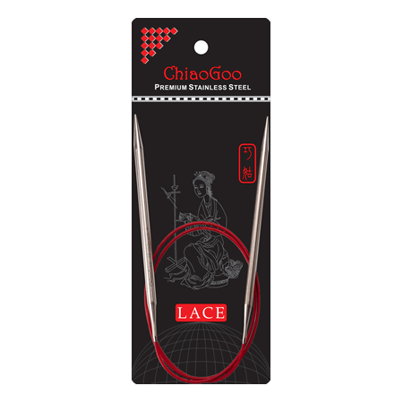 ChiaoGoo - RED Lace Circulars (Size 0-4) -  - Yarning for Ewe - 1