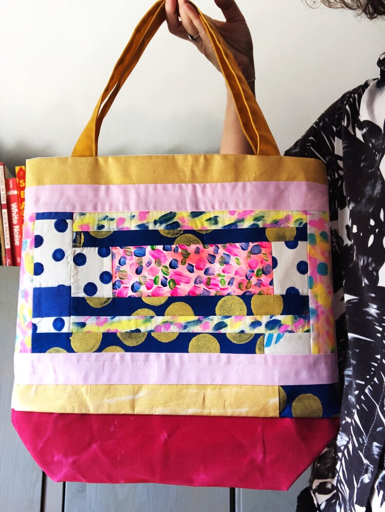 Scrappy Quilted Tote bags