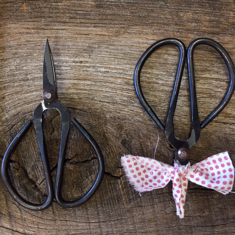"4"" Black Steel Scissor Snips"