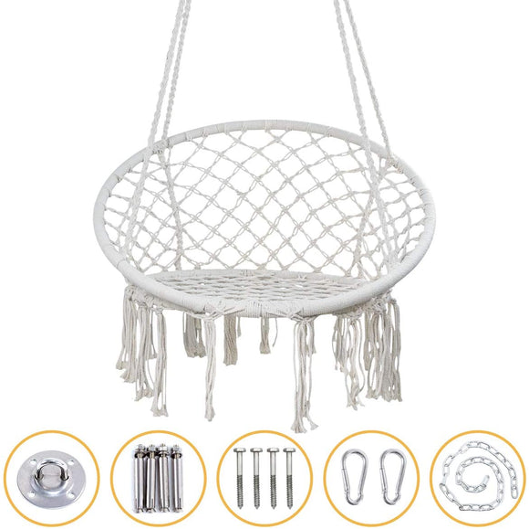 YRYM HT Macrame Swing Hammock Chair