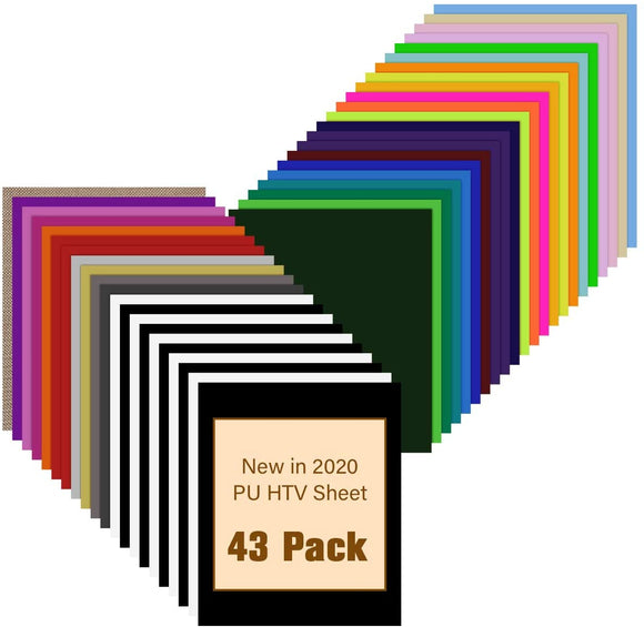 Limited Offer / Heat Transfer Vinyl Bundle - 43 Pack 12
