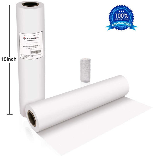 Limited Offer / White Kraft Butcher Paper Roll -18