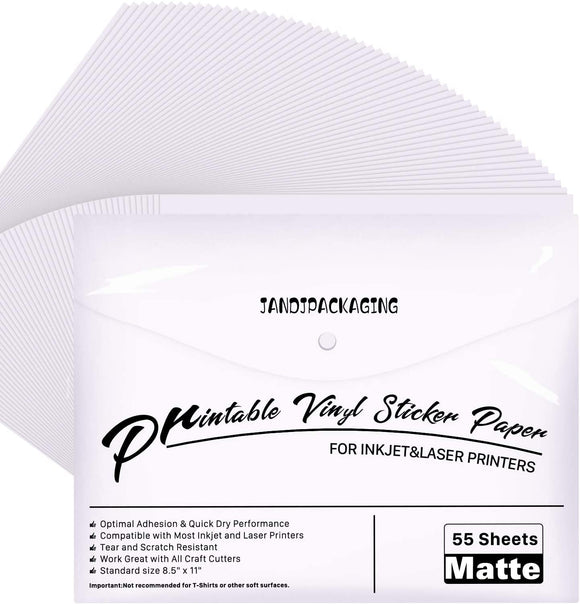 Limited Offer / Printable Vinyl  - 55 Pack Matte White( Please read the details carefully )