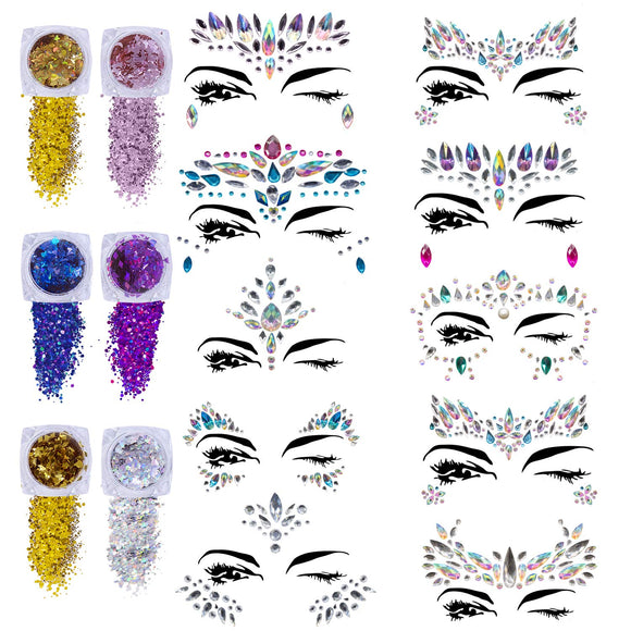 Limited Offer / Face Gems Glitter - 10 Sets ( Please read the details carefully )
